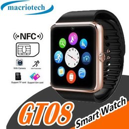 $enCountryForm.capitalKeyWord Australia - Bluetooth Smart Watch for GT08 Smartwatch with SIM Card Slot NRC Speed Smooth Speed for Android IOS Cellphones with Retail Package