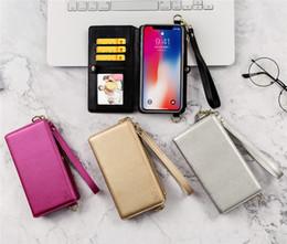 Wallet Apple Australia - Fashion Women IPhoneXS MAX Samsung Phone Case Apple XR Wallet Mobile Phone Holster Multi-function Protective Cover Messenger Bag 4 Color