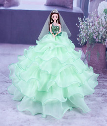 Princess 12 Figure Australia - Dress A Doll Wave Fund Gift Princess Toys 4d Eye Bride Goods Of Furniture For Display Rather Than For Use China Doll Super Skirt Pendulum