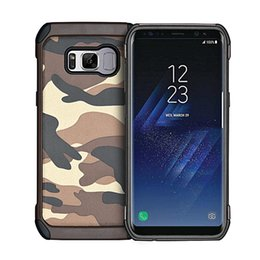 $enCountryForm.capitalKeyWord NZ - Shockproof Army Camo Camouflage Rubber Case for Samsung Galaxy S9 S8 Plus S7 Edge Back Cover Phone Cover for Samsung Note9