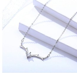 $enCountryForm.capitalKeyWord NZ - woman necklaces jewelry original 925 sterling silver animal angle pendants thin chains choker girls office lady fashion factory price 6 pcs