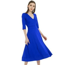 $enCountryForm.capitalKeyWord UK - Leisure Fashion Elegant dance dresses in spring and winter, sexy V-collar white dress for party dresses hot selling Dresses