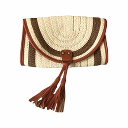 $enCountryForm.capitalKeyWord UK - Summer Bohemian Women Straw Bag Rattan Clutch Bags Female Handbag Handmade Bag Woven Beach Pocket