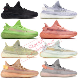 Wholesale black stocking women resale online - True Form Kanye Balck Reflective Antlia Synth Cream White Mens Running Shoes With Stock X Box Men women Designer Sneakers