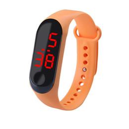 Kids Smart Watches Child Australia - Xiaomi Digital Led Smart Watch Waterproof Wristbands tpe Bracelet Silicone Electronic Wristwatches Children Students Kids mi3 Sports
