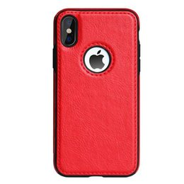 Wholesale New For iPhone XS max XR X s Plus Cell Phone Case Luxury Leather Gain Business style Soft Back Cover Q885