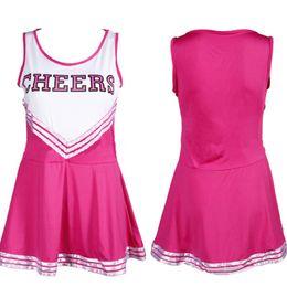 $enCountryForm.capitalKeyWord NZ - Cheerleading Costumes Rose Red XS-XXL Sexy Female Club Basketball Football Game Dress Lala Flower Lingerie Uniforms Show New Trendy Clothing
