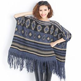 $enCountryForm.capitalKeyWord Australia - lady's Autumn& Winter new arrival large size one size tassel bat knitted scarf & sweater