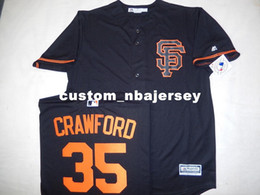 245ef6023e2 Cheap custom BRANDON CRAWFORD Baseball JERSEY Black New Stitched Customize  any name number MEN WOMEN BASEBALL JERSEY XS-5XL