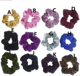 China Velvet Elastic Hair Scrunchie Scrunchy Hairbands Head Band Ponytail Holder Girls princess accessories Hair Accessories 389 suppliers