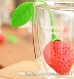 teapot infusers Australia - DLM2020 Lovely Fruit Strawberry Shape Tea Infuser Food Grade Silicone Tea Strainer For Loosing Leaf In Teapot C15k
