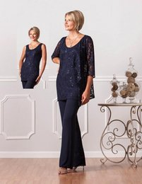 $enCountryForm.capitalKeyWord Australia - 2019 New Fashion Formal Mother Of Bride Groom Pant Suits Plus Size Mother Of The Groom Dresses Navy Blue Evening Dresses BA6031