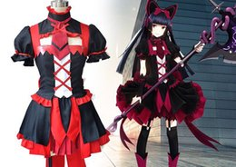 $enCountryForm.capitalKeyWord Canada - Japanese Anime Gate Brave Scramble Cosplay Rory Mercury Costume Lolita Style Dress + Arm Wrap+Suspenders + Bow + Hair Band per set