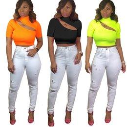 Xxl Knitting Shirt Australia - New Summer Knitted Women Tops Shirts Hollow Out Crop Tops Tee T-shirt Short Sleeve Solid Tee T-shirt S-XXL