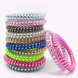 Plastic Princess Australia - Jelly Gum Clear Telephone Wire Hair Ring Elastic Hair Bands 6.5cm Plastic Spring Hairband Rubber Ropes Hair Accessories DHL 200pcs A21401