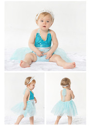 Wholesale New summer little girls lace sling fashion dress 1-3Y wedding dresses belly protection belly children's clothing baby outfit girl clothes 3c