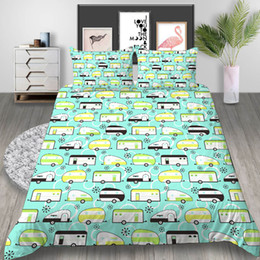 $enCountryForm.capitalKeyWord Australia - Cartoon Car 3D Printed Bedding Set Single Size Cute Fresh King Duvet Cover Queen Home Textile Double Bed Set With Pillowcase 3pcs
