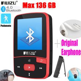 Wholesale New Arrival Original RUIZU X50 Sport Bluetooth MP3 Player 8gb Clip Mini with Screen Support FM,Recording,E-Book,Clock,Pedometer