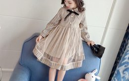Year Baby Dressing Style Australia - Baby dress 3 years old spring 2019 new girl gauze dress dress foreign style children princess skirt long sleeve thin G3112A7