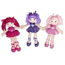 Toy Doll Australia - Cute Girls Plush Toys Kids Soft Stuffed Toy Three Colors Dancing Girl Figures Dolls Toys for Children 40cm