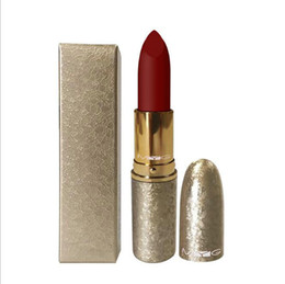 lipstick bullets 2019 - Lipstick Bullet Shape Gold Shinny Tube 10 Style Lipsticks Bullet Package Lip Care Cosmetic Products for Ladys cheap lips