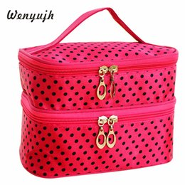 $enCountryForm.capitalKeyWord Australia - WENYUJH Fashion Makeup Bag Pouch Toiletry Travel Cosmetics Bag Women Double Makeup Dot Print Case Handbag Beauty Kit #Ne