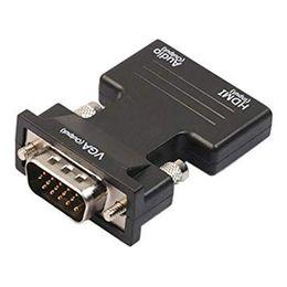 $enCountryForm.capitalKeyWord Australia - Portable Mini Hdmi To Vga With Audio Power Hdmi To Vga Adapter 1080P Digital Analog Audio Video Converter