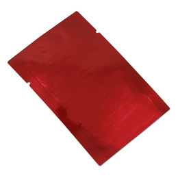 $enCountryForm.capitalKeyWord Australia - 100pcs 9*13cm (3.54*5.11inch) red dry food aluminum foil mylar open top package bag moisture proof heat seal bag wholesale snacks pack bags