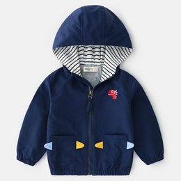 Boutique Jackets NZ - Spring 2019 new boys Coat Boys jacket long sleeve hooded Kids Jackets Children Outwear kids designer clothes Boutique Boys Clothing A2921
