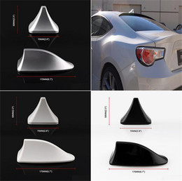 shark fin car roof antenna Australia - Car Universal Modification New Auto Car Shark Fin Universal Roof Antenna Radio FM AM Decorate Aerial