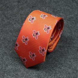 Groomsmen Ties Australia - Tie male orange new casual personality embroidery student wedding groom groomsmen dress business Korean version of the bee 27