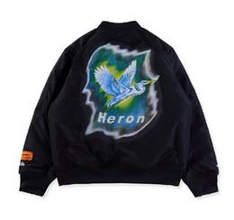 $enCountryForm.capitalKeyWord UK - New Heron Preston Parkas Men Sportswear Bird Bomber Jacket Heron Preston Windbreaker Flying Jacket Coat Parkas