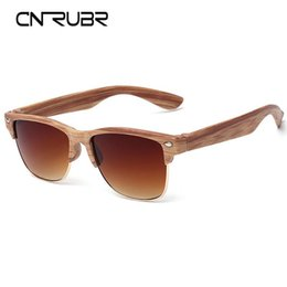 wood matches wholesale UK - Wholesale-CURNBR European Fashionall-Match Wood Sunglasses Female Sunglasses Vintage Retro Designer Fashion Sunglass Men Retro Glasses