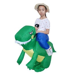 $enCountryForm.capitalKeyWord Australia - Inflatable Dinosaur Riding T-REX Costume Halloween Fancy Blow Up Mascot Costumes Dress Up for Kids