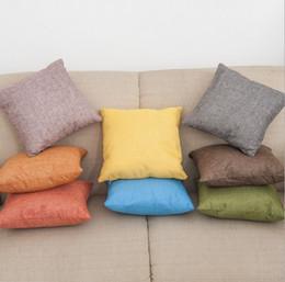 Pure Linen Pillowcases Australia - 30cm * 30cm Colorful Pure Linen Throw Pillow Covers Cotton Children Pillow Case Cushion Cover Pillowcases Sofa Car Decorative Pillow cover