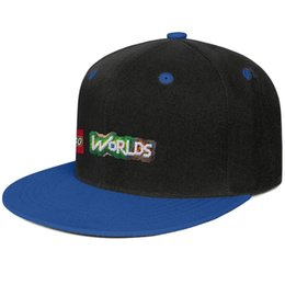 Dome Toys Australia - Lego logo worlds game toy Blue mens and womens baseball flat brim cap cool fitted custom sports vintage team best classic flat brim hats