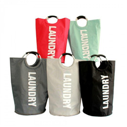 $enCountryForm.capitalKeyWord Canada - Folded Dirty Clothes Storage Bags With Printed Letter Colorful Types Oxford Cloth Laundry Bag Household Laundry Basket Ljjq81