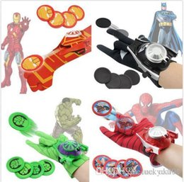 Wholesale batman cosplay for sale – halloween UK Spider man Batman Superhero Launchers Gloves Cosplay Weapon Kids Boys Toys Gifts