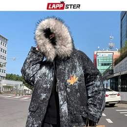 black white japanese men coat Australia - LAPPSTER Winter Jacket Thick Men Streetwear Hooded Paraka Coat 2019 Mens Harajuku Japanese Fashoin Black Puffer Jacket Plus Size