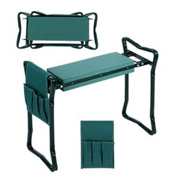 garden tools sales Canada - Folding Garden Kneeler and Seat with Bonus 2020 HOT Sale Multifunctional Seat with 3 Bonus Tool Pouches Bearing 150KG TV Product