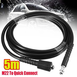 Discount quick hose - 5M High Pressure Washer Hose 9mm Quick Connect to M22 Washer Adaptor for Car Garden Washing Cleaning