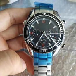 Bracelet en acier inoxydable montre de luxe chaud SEA MASTER 42mm co-axial automatique mécanique hommes montres james bond 007 horloge chronomètre en Solde