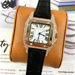 Famous squared watches online shopping - Hot sale Women Watch High Quality luxury diamonds Leather Colorful Famous Designer Luxury Noble Female Quartz luminous hands