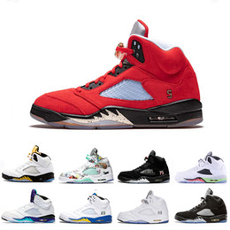 $enCountryForm.capitalKeyWord NZ - Michigan Cheap Inspire Wings Laney 5 V 5s Mens Basketball Shoes Trophy Room Grape Fire Red Og Black Metallic Silver Men Sports Sneakers