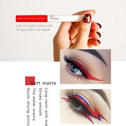 Matte Eyeliner Pens Australia - 15 Colors Matte Eyeliner Pencil Waterproof Liquid Long-lasting Easywear Liquid Eye Liner Pen Cosmetic Lady Beauty Makeup Tool