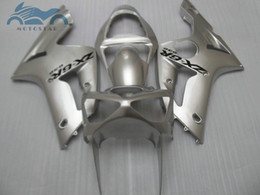 aftermarket fairing kits zx6r Australia - 7gifts fairings set for kawasaki Ninja ZX6R 636 03 04 aftermarket ZX-6R 2003 2004 silver fairing kit FR89