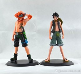 Portgas D Ace Figure Australia - 2015 New Japan Anime One Piece The Monkey.D.Luffy And The Portgas D Ace PVC Action Figure Set Toys Gifts
