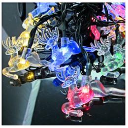 $enCountryForm.capitalKeyWord Australia - LED String Light Deer Elks Christmas Light Fawn 20 LEDs Outdoor Solar Powered LED Strings Holiday Backyard Decoration