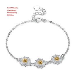 $enCountryForm.capitalKeyWord NZ - Hot Lekani Jewelry Pure Silver 925 Fresh Small Zou Ju Flower Bracelet Woman Vintage Charm Lava Stone Bracelets Women Party Accessories