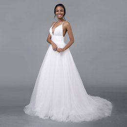 $enCountryForm.capitalKeyWord UK - Sexy Wedding Dresses A-line White Brides Gown Elegant High Class Long Train Mermaid Brides Dress Cocktail Clothes Chinese Factory Man Made